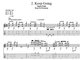 """""""Keep Going"""" Noten (+TABs)"""