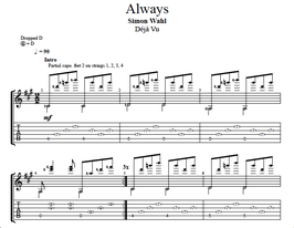 """Always"" Noten (+TABs)"