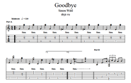 """Goodbye"" Noten (+TABs)"