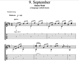 """September"" Noten (+TABs)"