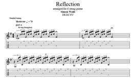 """Reflection"" Noten (+TABs)"