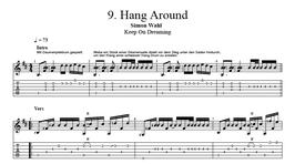 """""""Hang Around"""" Noten (+TABs)"""