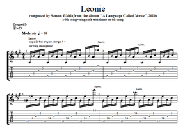 """Leonie"" Noten (+TABs)"