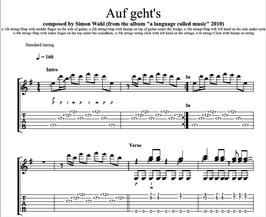 """""""Auf Geht's"""" Noten (+TABs)"""