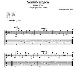 """""""Sommerregen"""" Noten (+TABs)"""