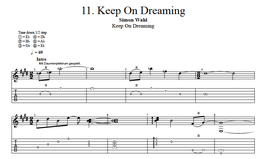 """Keep On Dreaming"" Noten (+TABs)"