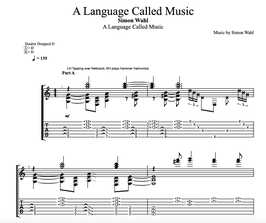 """A Language Called Music"" Noten (+TABs)"