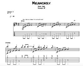 """""""Melancholy"""" Noten (+TABs)"""