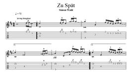 """""""Zu Spät"""" Noten (+TABs)"""
