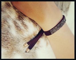 Bracelet daim et véritables Swarowsky
