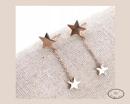 Boucles d'oreilles étoiles suspendues
