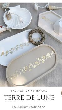 Coupelle ovale feuilles d'or ou argent