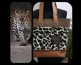 Sac cabas Ginah léopard étoile