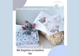 Lingettes lavables petits chats