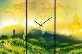 """Horloge """"Voyage en Asie"""""""