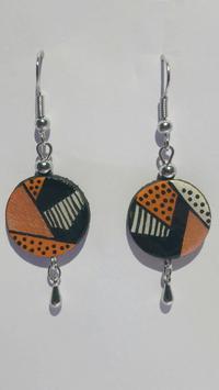 Boucle d'oreille T3 orange