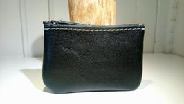 Porte monnaie zip simple noir