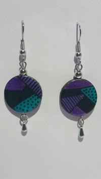 Boucle d'oreille T3 violet