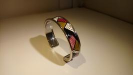 Bracelet métal bordeau