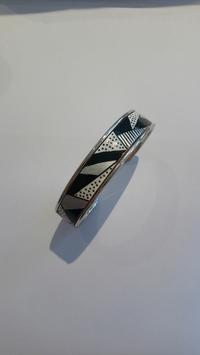 Bracelet métal noir