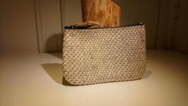 Porte monnaie zip simple or paillette