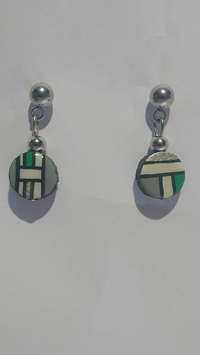 Boucle d'oreille Mondrian vert