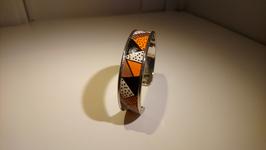 Bracelet métal orange