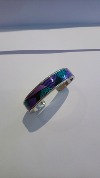Bracelet métal violet