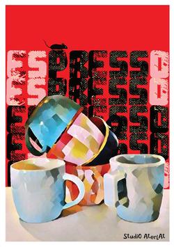 keuze uit 10 sprankelende art posters uit de serie CRUMBLE