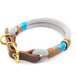 Leder-Schnallenhalsband rope meet leather
