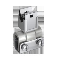 P913 732 Leitungshalter V2A-stahl/verzinkt, Ø 8 mm / Typ B mit Kreuzstehfalzklemme
