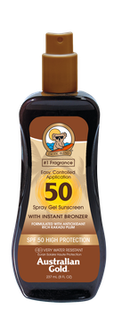 SPF 50 Spray Gel mit Bronzer 237ml