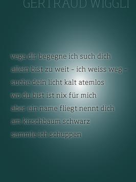 Gertraud Wiggli ‹vega dir begegne ich such dich›