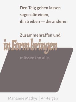 Marianne Mathys  ‹An-teigen›