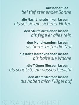 Susanna Gneist ‹Auf hoher See›
