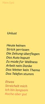 Hans Gysi ‹Unlust›