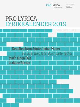 2019, Sarah Eegli, Titelgedicht: ‹Kein Reichtum hinter hoher Mauer›
