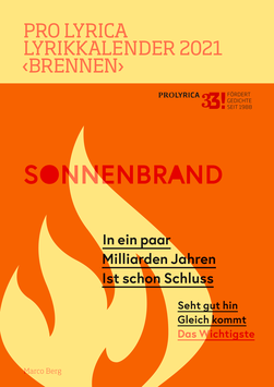 2021, Marco Berg, Titelgedicht: ‹Sonnenbrand›
