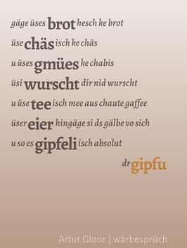 Artur Gloor ‹wärbesprüch›