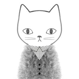 CARTE | POSTCARD Grid & Fur (Audrey Jeanne)