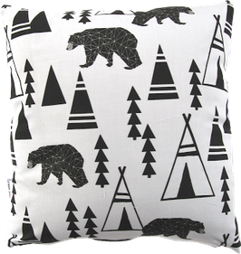 Coussin ours et tipi (Pöm le bonhomme)