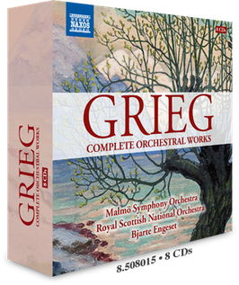 Edvard Grieg: Complete Orchestral Works (8CD, Naxos)