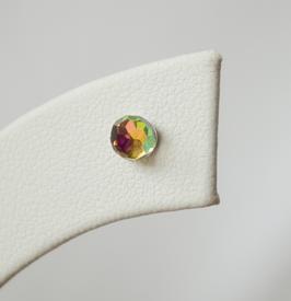 Ref.: 00044 Aretes de cristal con base de plata 4 mm
