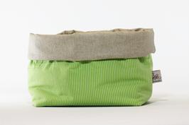 Utensilo Grün/Naturfarben Streifen