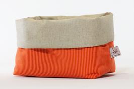Utensilo Orange/Naturfarben Streifen