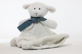 Schnuffeltuch (Schaf) mit verschiedenen Halstüchern