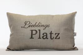 "Kissen ""Lieblings Platz"" Beige"
