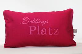 "Kissen ""Lieblingsplatz"" Pink"