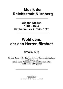 """""""Wohl dem, der den Herren fürchtet"""" (Nr. 26)"""
