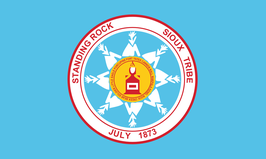 Standing Rock Sioux Tribe Flag (Sky Blue)